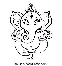 hindu gud, ganesha.