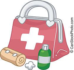 hjælpemiddel, først, udstyr