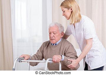 hjem, sygepleje, rehabilitering