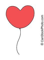 hjerte, balloon
