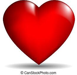 hjerte, vektor, 3