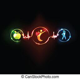 hjerte, wallaper, sunde