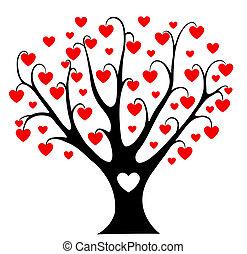 hjerter, træ.
