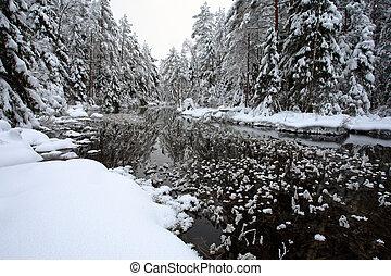 hoarfrost, flod