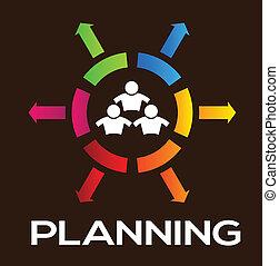 hold, planlægning, folk