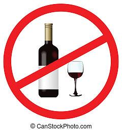 holde inde, alkohol, tegn