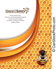 honning, baggrund, abstrakt