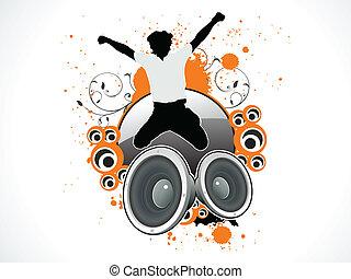 hop, abstrakt, taler, musikalsk begavet