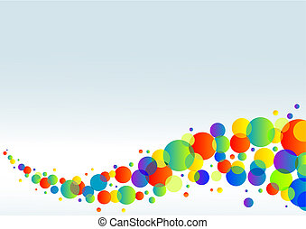 horisontale, farverig, baggrund