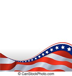 horisontale, flag, amerikaner, baggrund