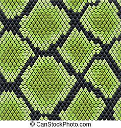 hud, mønster, reptil, grønne, seamless