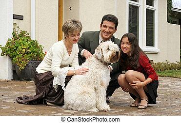 hund, familie