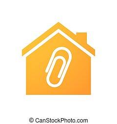 hus, hæfte, ikon