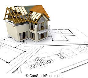 hus konstruktion, under