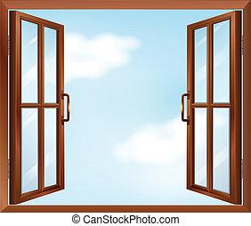 hus, vindue