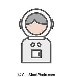 hvid baggrund, avatar, spaceman, ikon