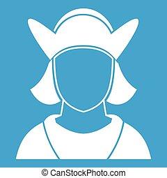 hvid mandlig, avatar, ikon