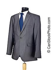 hvid mandlig, isoleret, tøjsæt