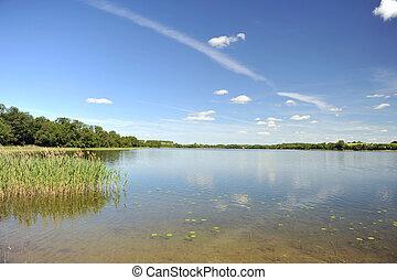i ligevægt, sø vand