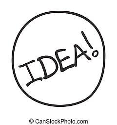 icon., doodle, ide