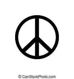 icon., vektor, fred underskriv