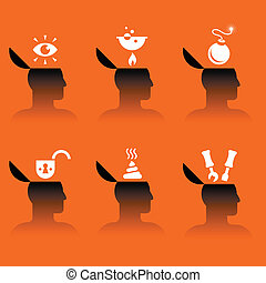 iconerne, anføreren, adskillige, emne, menneske