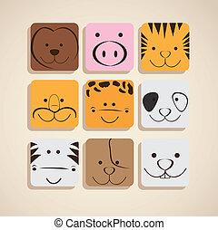 iconerne, dyr