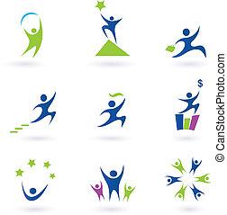 iconerne, held, sociale, firma