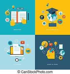 iconerne, lejlighed, begreb, undervisning