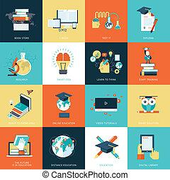 iconerne, lejlighed, undervisning, konstruktion