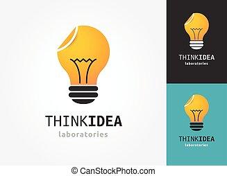 iconerne, lys, -, kreative, ide, pære, teknologi