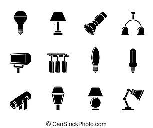 iconerne, lyse apparatur