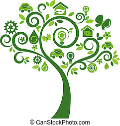 iconerne, træ 2, -, økologiske