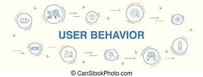 iconerne, usability, bruger, data, cirkel, design., infographic, opførsel, 10, optræden, analytics, enkel, foranstaltninger