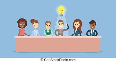 idea., forretningsmand