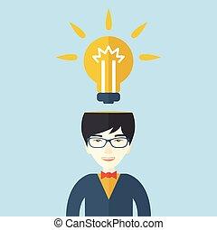 idea., klar, forretningsmand, har