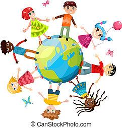 ih, børn, verden