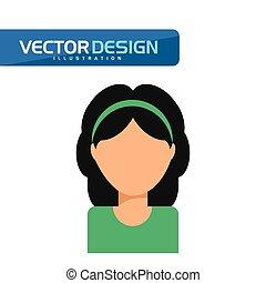 ikon, avatar, konstruktion