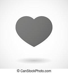 ikon, baggrund, hjerte, hvid