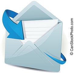 ikon pil, blå, email