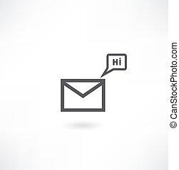 ikon, post, vektor, eps10