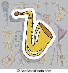 ikon, saxofon