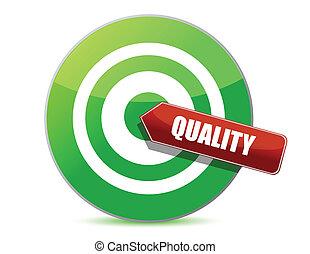 illustration, target, kvalitet, konstruktion