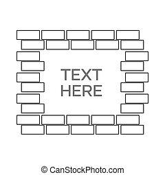 illustration, tekst, dekoration, grænse, ornamentere, vektor, geometriske