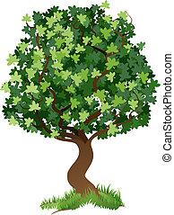 illustration, træ