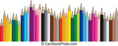 image, farve, blyanter, -, vektor