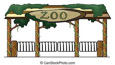 indgang, zoo