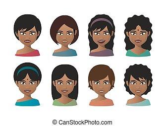 indisk, unge kvinder