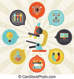 info, lejlighed, begreb, videnskab, grafik formgiv, style.