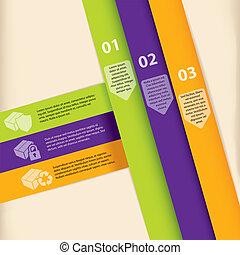infographic, konstruktion, farverig, skabelon